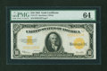 Large Size:Gold Certificates, Fr. 1173 $10 1922 Gold Certificate PMG Choice Uncirculated 64....