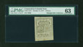 Colonial Notes:Connecticut, Connecticut October 11, 1777 2d Blue Paper PMG Choice Uncirculated63....