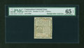 Colonial Notes:Connecticut, Connecticut October 11, 1777 3d Blue Paper PMG Gem Uncirculated 65EPQ....
