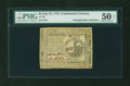 Colonial Notes:Continental Congress Issues, Continental Currency July 22, 1776 $2 PMG About Uncirculated 50EPQ....