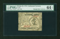 Colonial Notes:Continental Congress Issues, Continental Currency July 22, 1776 $3 PMG Choice Uncirculated 64 EPQ....
