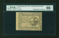 Colonial Notes:Continental Congress Issues, Continental Currency February 26, 1777 $2 PMG Gem Uncirculated 66EPQ....