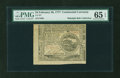 Colonial Notes:Continental Congress Issues, Continental Currency February 26, 1777 $4 PMG Gem Uncirculated 65EPQ....