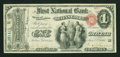 National Bank Notes:Pennsylvania, Selins Grove, PA - $1 Original Fr. 380 The First NB Ch. # 357. ...