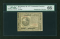 Colonial Notes:Continental Congress Issues, Continental Currency February 26, 1777 $6 PMG Gem Uncirculated 66EPQ....