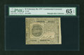Colonial Notes:Continental Congress Issues, Continental Currency February 26, 1777 $7 PMG Gem Uncirculated 65 EPQ....
