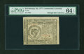 Colonial Notes:Continental Congress Issues, Continental Currency February 26, 1777 $8 PMG Choice Uncirculated64 EPQ....
