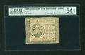 Colonial Notes:Continental Congress Issues, Continental Currency September 26, 1778 $50 PMG Choice Uncirculated64 EPQ....