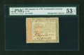 Colonial Notes:Continental Congress Issues, Continental Currency January 14, 1779 $55 PMG About Uncirculated 53EPQ....
