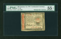 Colonial Notes:Continental Congress Issues, Continental Currency January 14, 1779 $65 PMG About Uncirculated 55EPQ....