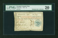 Colonial Notes:Georgia, Georgia 1776 $4 Blue Seal PMG Very Fine 20....