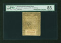Colonial Notes:Connecticut, Connecticut January 2, 1775 20s PMG About Uncirculated 55....