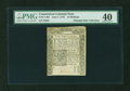 Colonial Notes:Connecticut, Connecticut June 7, 1776 10s PMG Extremely Fine 40....