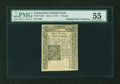 Colonial Notes:Connecticut, Connecticut June 7, 1776 £1 PMG About Uncirculated 55....