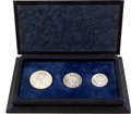 Luxembourg, Luxembourg: Silver Specimen Set 1946 in the original case:...(Total: 3 coins)