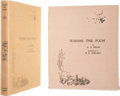 Books:Signed Editions, A. A. Milne. Winnie-the-Pooh. [New York]: E. P. Dutton &Company, [1926].. First American edition, on large paper....