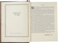 Music Memorabilia:Memorabilia, Beatles-Related - Derek Taylor and George Harrison Signed Copy of Fifty Years Adrift. ...