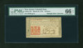 Colonial Notes:New Jersey, New Jersey March 25, 1776 18d PMG Gem Uncirculated 66 EPQ....