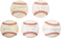 Autographs:Baseballs, Baseball Hall of Famers Single Signed Baseballs Lot of 5. ...(Total: 5 items)