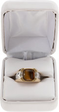 Music Memorabilia:Memorabilia, Elvis Presley Tiger Eye Ring Given as Gift to Sam Thompson....