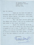 Movie/TV Memorabilia:Autographs and Signed Items, Boris Karloff Signed Letter with Invitation.... (Total: 2 Items)
