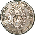 Chile, Chile: Argentina 2 Reales 1813 Countermarked with Mountains overVALP (Valparaiso) ND (1833),...