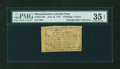 Colonial Notes:Massachusetts, Massachusetts June 18, 1776 4s4d PMG Choice Very Fine 35 EPQ....