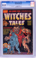 Golden Age (1938-1955):Horror, Witches Tales #14 File Copy (Harvey, 1952) CGC VF 8.0 Light tan tooff-white pages....