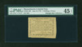 Colonial Notes:Massachusetts, Massachusetts June 18, 1776 5s4d PMG Choice Extremely Fine 45EPQ....
