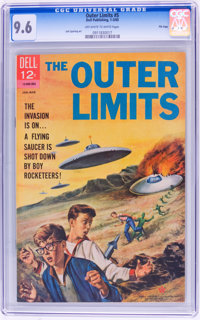 Outer Limits #5 File Copy (Dell, 1965) CGC NM+ 9.6 Off-white to white pages