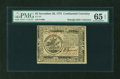 Colonial Notes:Continental Congress Issues, Continental Currency November 29, 1775 $5 PMG Gem Uncirculated 65EPQ....