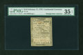 Colonial Notes:Continental Congress Issues, Continental Currency February 17, 1776 $1/6 PMG Choice Very Fine 35EPQ....
