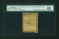 Colonial Notes:Continental Congress Issues, Continental Currency February 17, 1776 $1/3 PMG Choice ExtremelyFine 45....