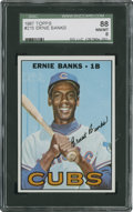Baseball Cards:Singles (1960-1969), 1967 Topps Ernie Banks #215 SGC 88 NM/MT 8....