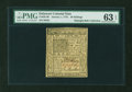 Colonial Notes:Delaware, Delaware January 1, 1776 20s PMG Choice Uncirculated 63 EPQ....