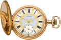 Timepieces:Pocket (post 1900), Elgin Gold 12 Size G.M. Wheeler With Fancy Dial, circa 1905. ...