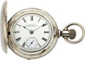Timepieces:Pocket (pre 1900) , Waltham Five Ounce Coin Silver Hunters Case, circa 1893. ...