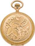 Timepieces:Pocket (post 1900), Waltham Mint Gold 16 Size Hunters Case, circa 1918. ...