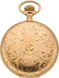 Timepieces:Pocket (post 1900), Waltham 16 Size Gold Hunters Case, circa 1901. ...