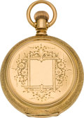 Timepieces:Pocket (pre 1900) , Waltham 18k Gold Riverside Hunters Case, circa 1878. ...