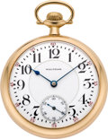 Timepieces:Pocket (post 1900), Waltham Gold 23 Jewel Vanguard, circa 1912. ...
