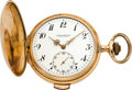 Timepieces:Pocket (pre 1900) , Swiss Gold 1/4 Hour Repeater, circa 1895. ...
