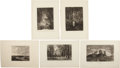 Antiques:Posters & Prints, Exceptional Group of Ten Engraved Landscape Illustrations.... (Total: 10 Items)