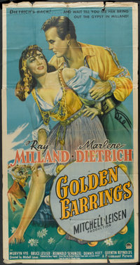 "Golden Earrings (Paramount, 1947). Three Sheet (41"" X 81""). Romance"