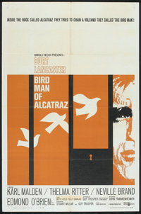 "Bird Man of Alcatraz (United Artists, 1962). One Sheet (27"" X 41""). Drama"