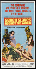 "Movie Posters:Adventure, Seven Slaves Against the World Lot (Paramount, 1965). Three Sheets(2) (41"" X 81""). Adventure.. ... (Total: 2 Items)"