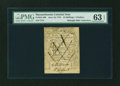 Colonial Notes:Massachusetts, Massachusetts June 18, 1776 24s ($4) Contemporary Counterfeit PMG Choice Uncirculated 63 EPQ....