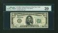 Fr. 1950-B* $5 1928 Federal Reserve Note. PMG Very Fine 20