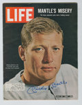Autographs:Others, Mickey Mantle Signed Life Magazine. ...