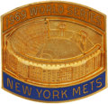 Baseball Collectibles:Others, 1969 New York Mets World Series Press Pin. ...
